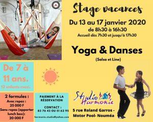 stage vacances yoga et danses studio harmonie